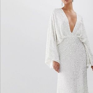 c82540abea3cee Asos edition sequin kimono sleeve wedding dress